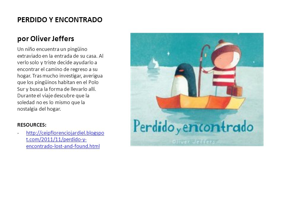 PERDIDO Y ENCONTRADO por Oliver Jeffers