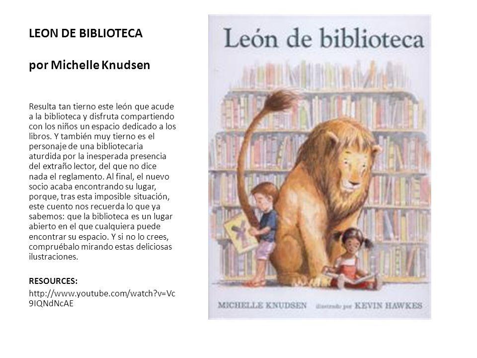 LEON DE BIBLIOTECA por Michelle Knudsen