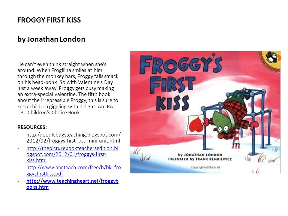 FROGGY FIRST KISS by Jonathan London