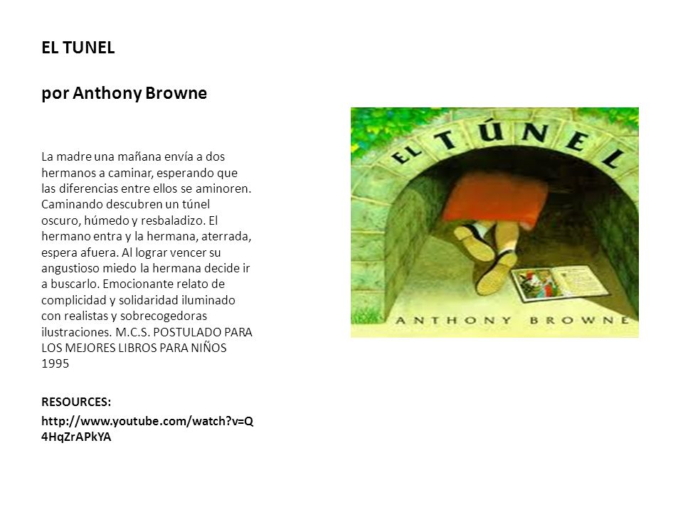 EL TUNEL por Anthony Browne