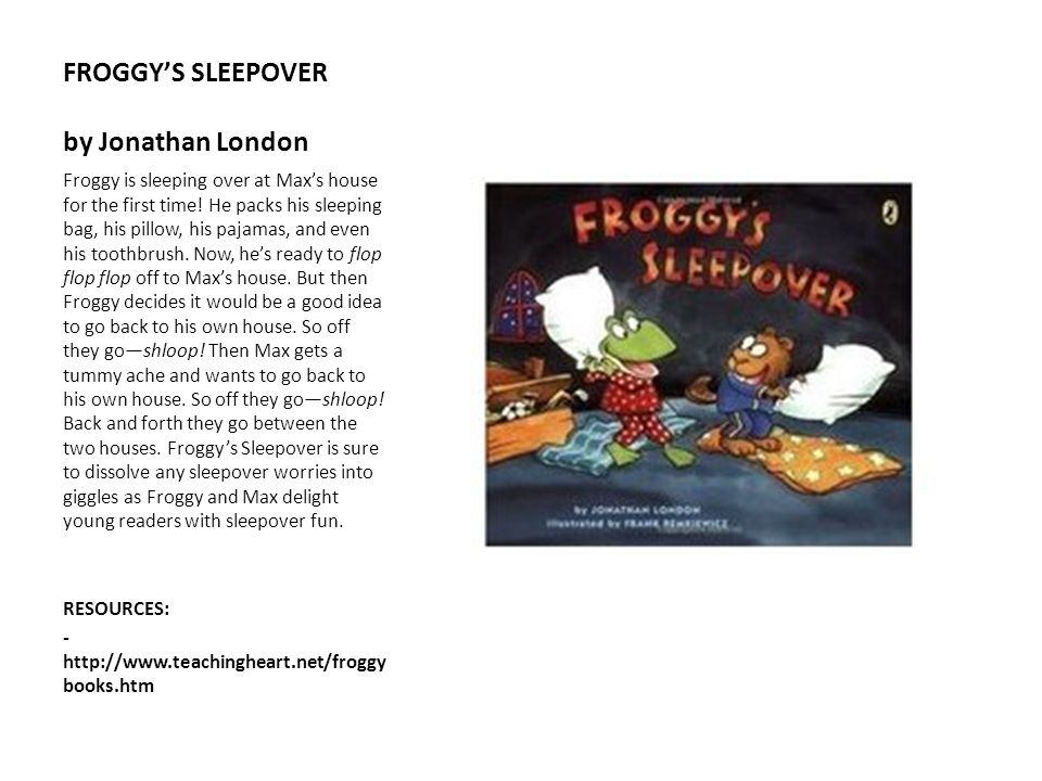 FROGGY'S SLEEPOVER by Jonathan London