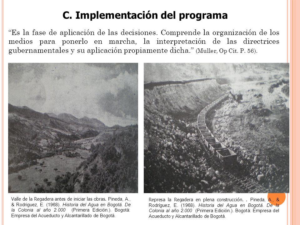 C. Implementación del programa