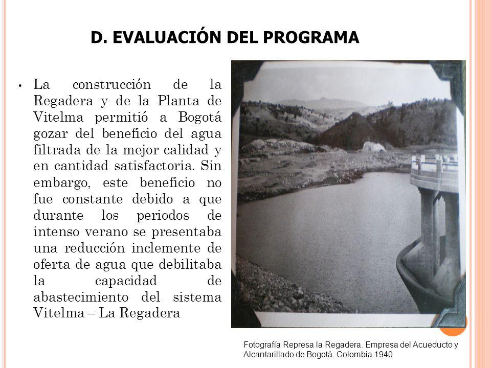 D. EVALUACIÓN DEL PROGRAMA