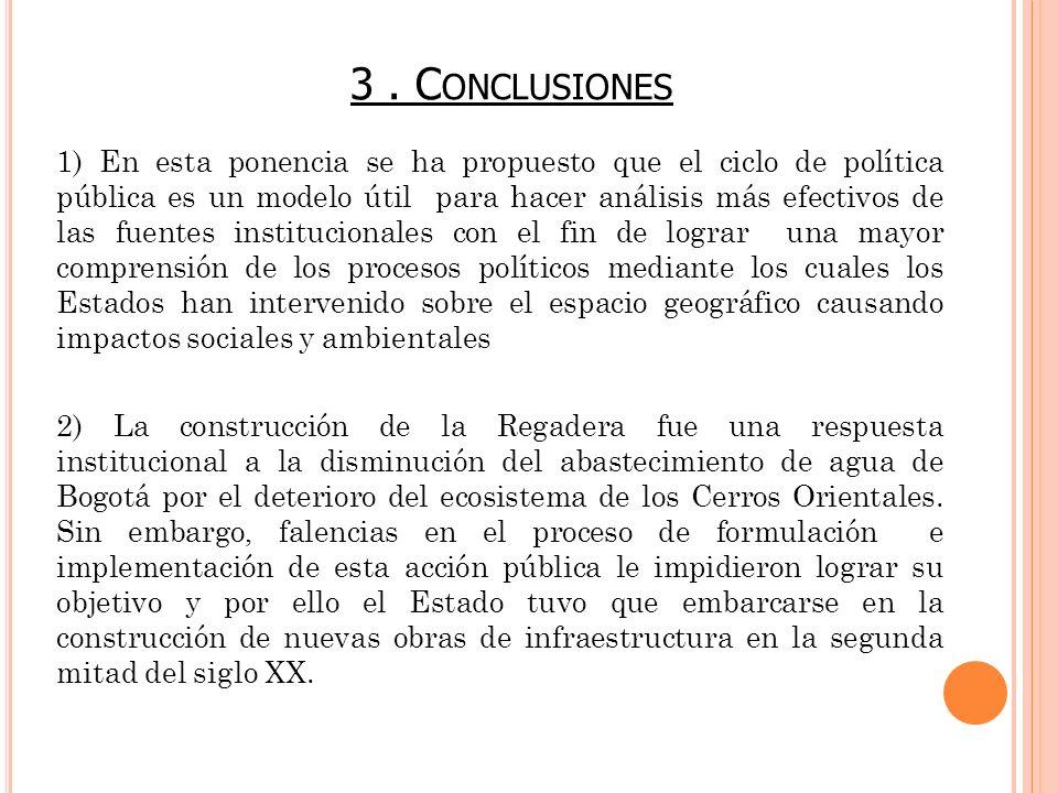 3 . Conclusiones