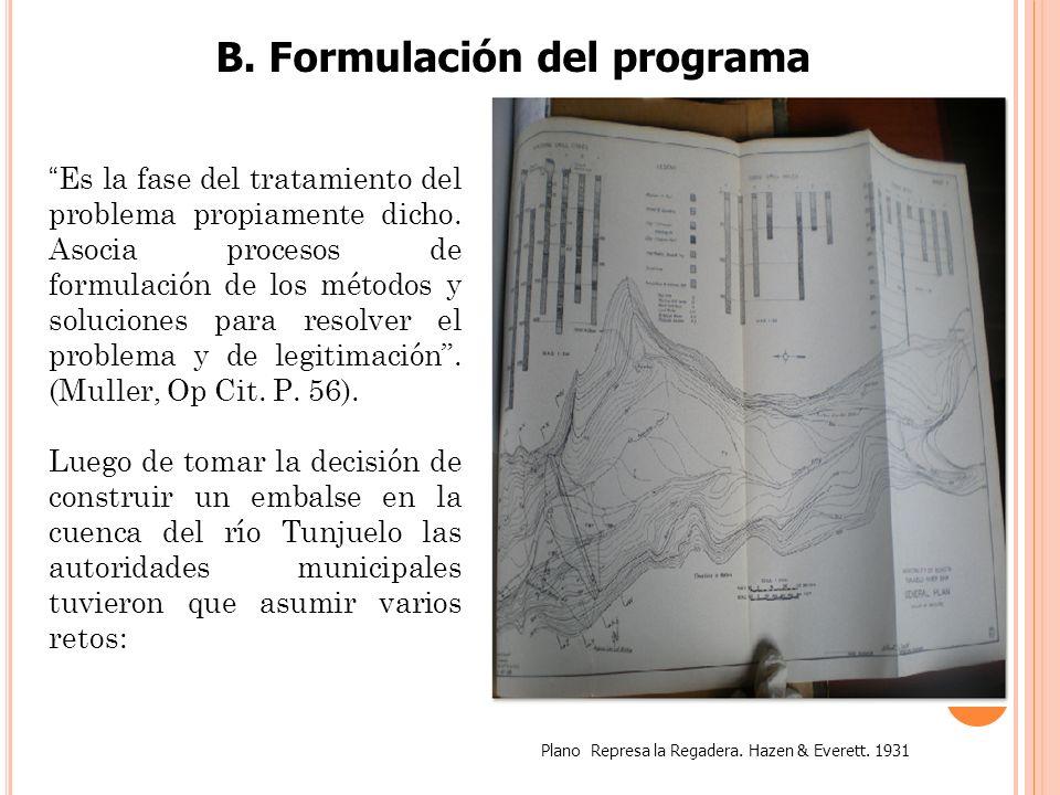 B. Formulación del programa