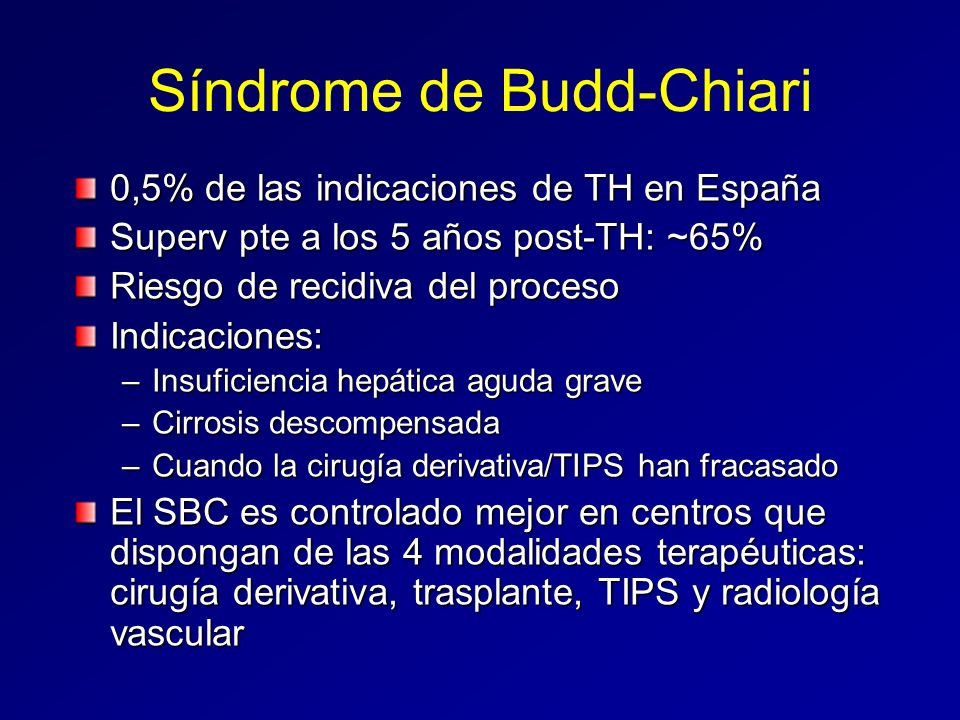 Síndrome de Budd-Chiari