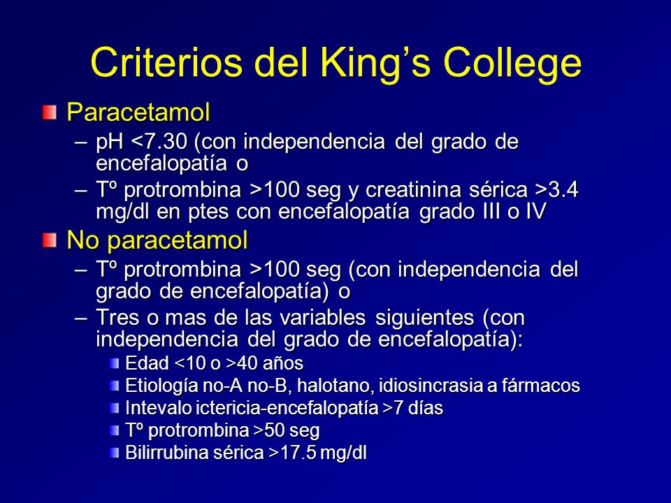 Criterios del King's College