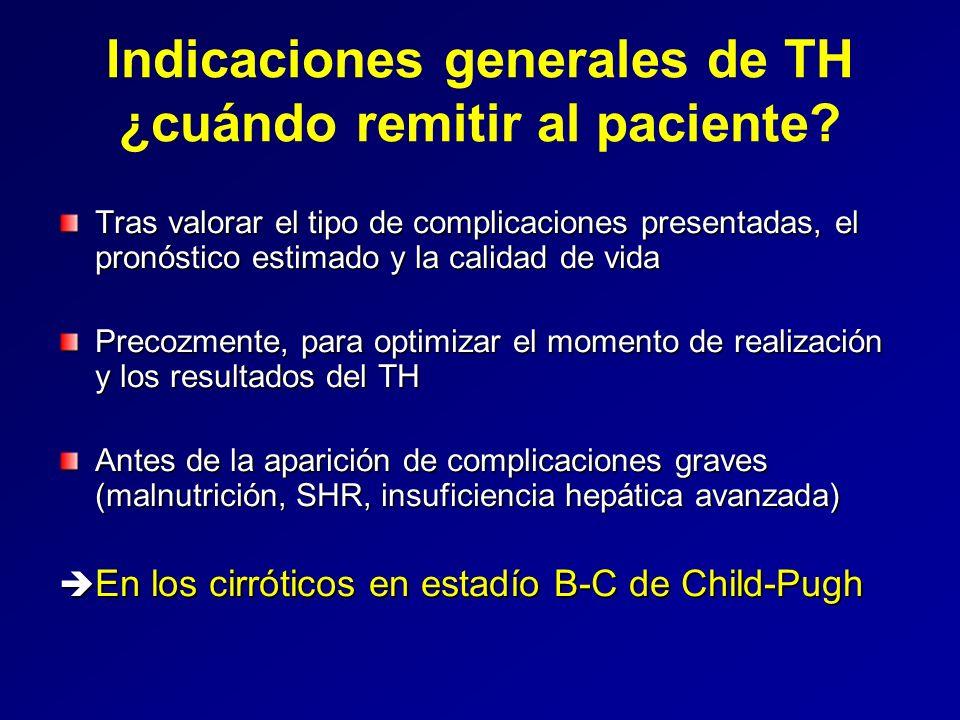 Indicaciones generales de TH ¿cuándo remitir al paciente