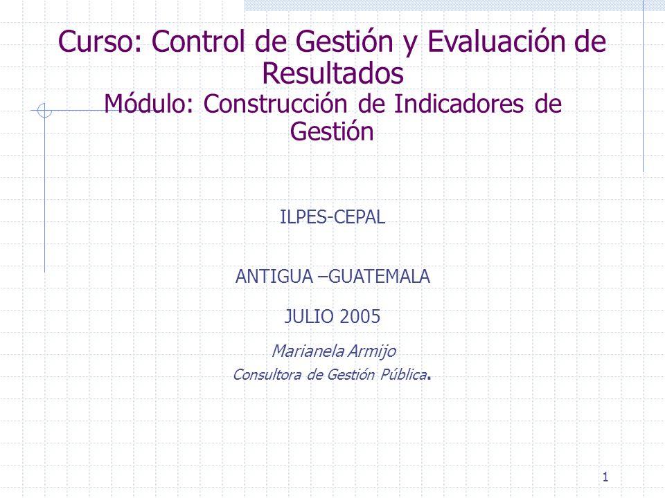 Curso: Control de Gestión y Evaluación de Resultados