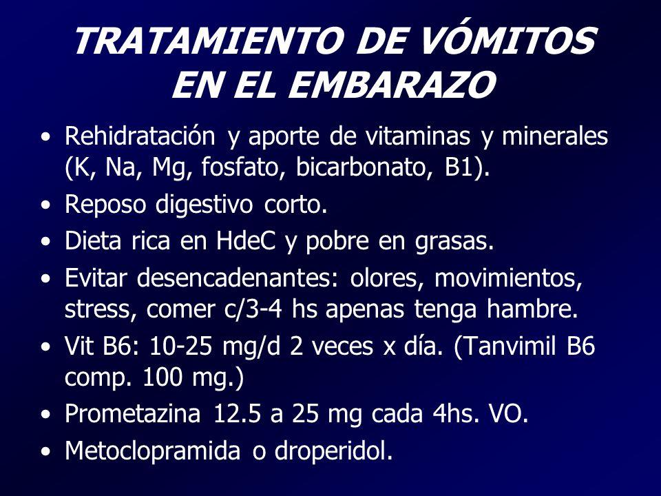 TRATAMIENTO DE VÓMITOS EN EL EMBARAZO