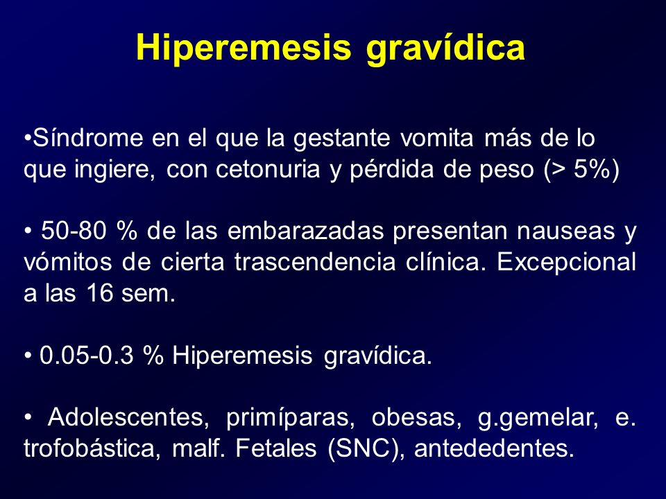 Hiperemesis gravídica