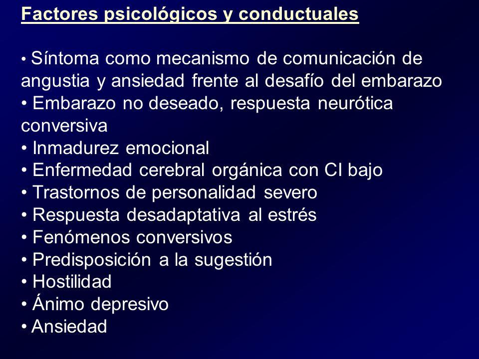 Factores psicológicos y conductuales