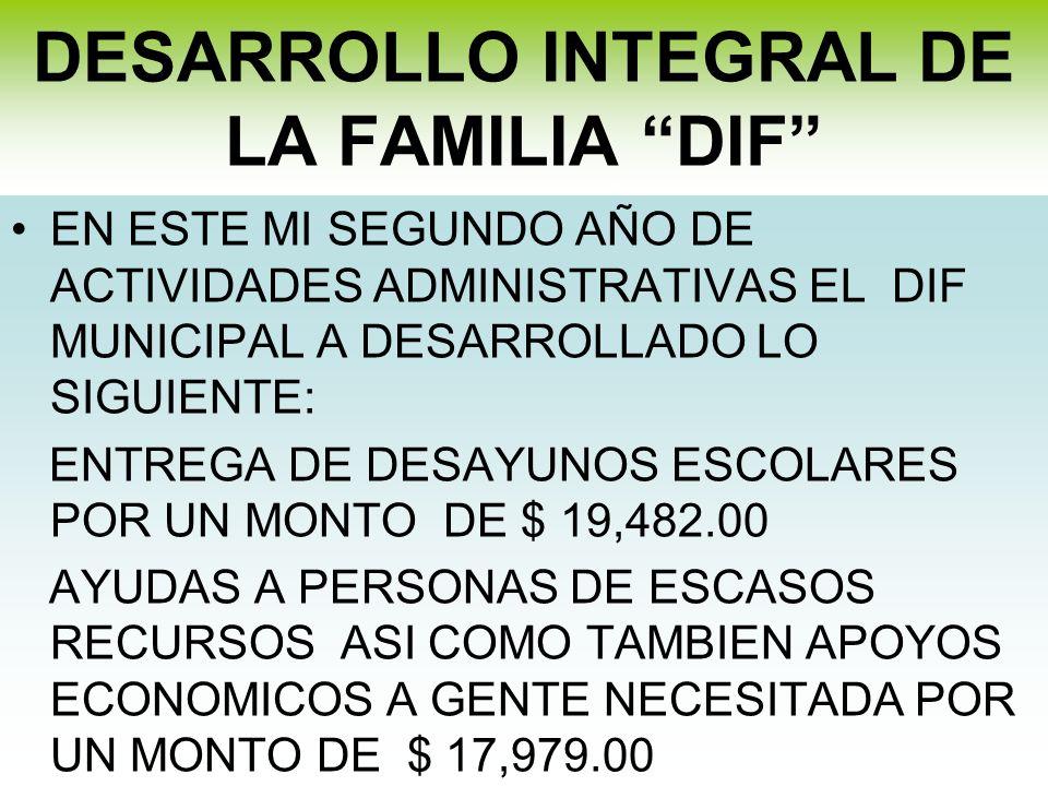 DESARROLLO INTEGRAL DE LA FAMILIA DIF