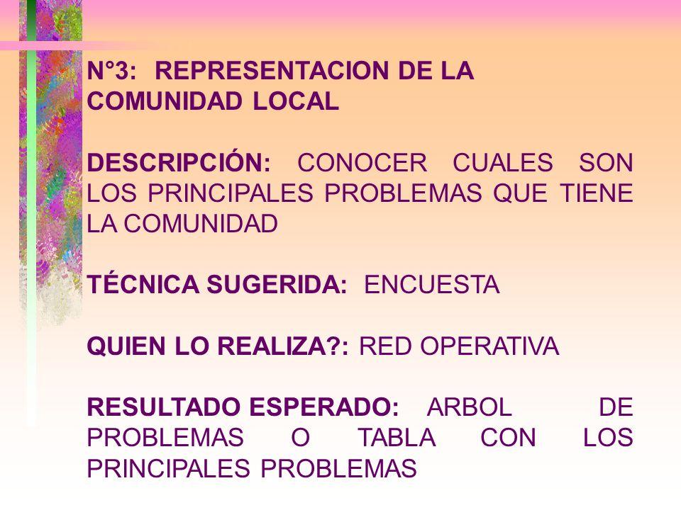 N°3: REPRESENTACION DE LA