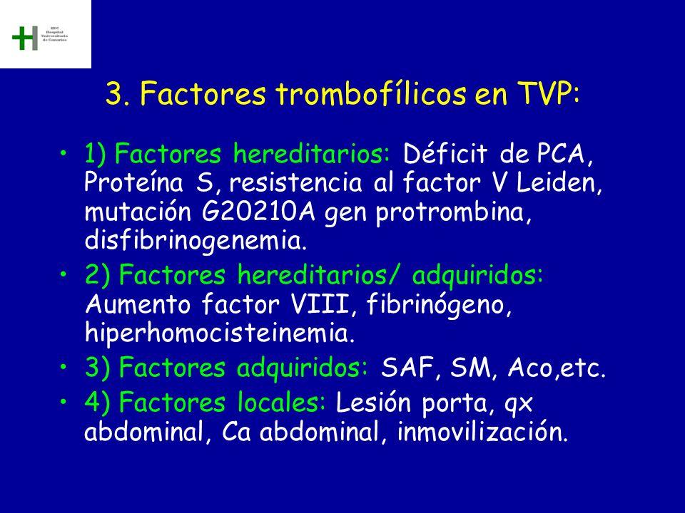 3. Factores trombofílicos en TVP: