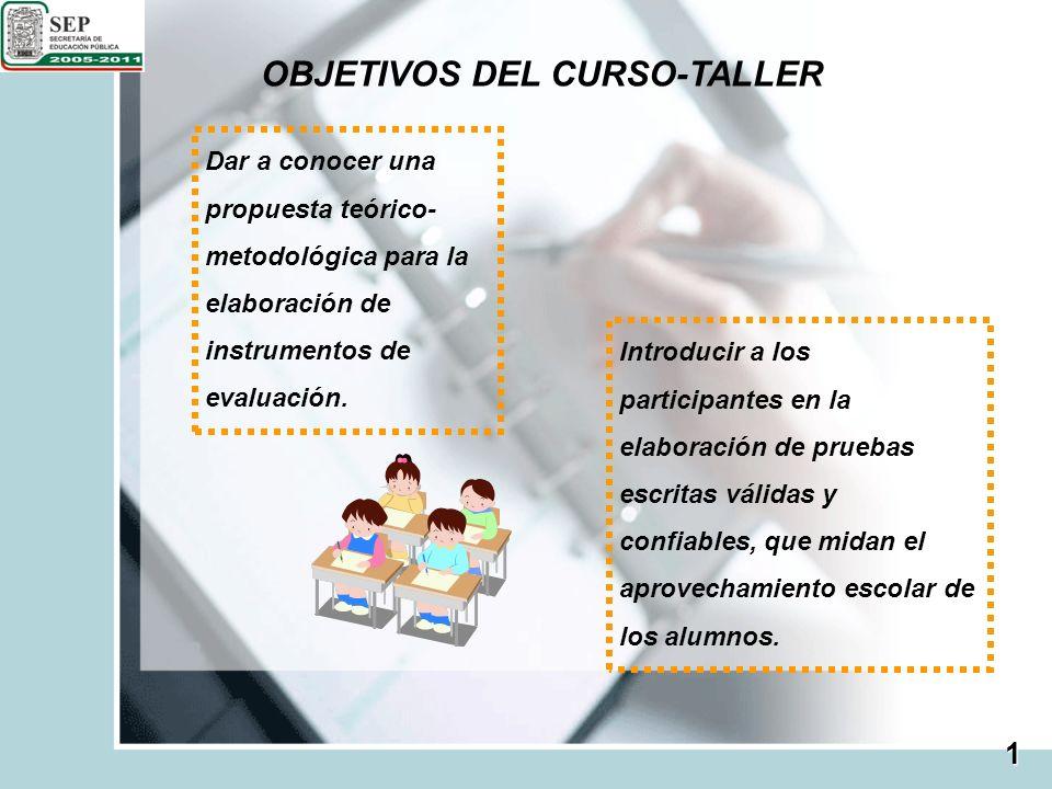 OBJETIVOS DEL CURSO-TALLER
