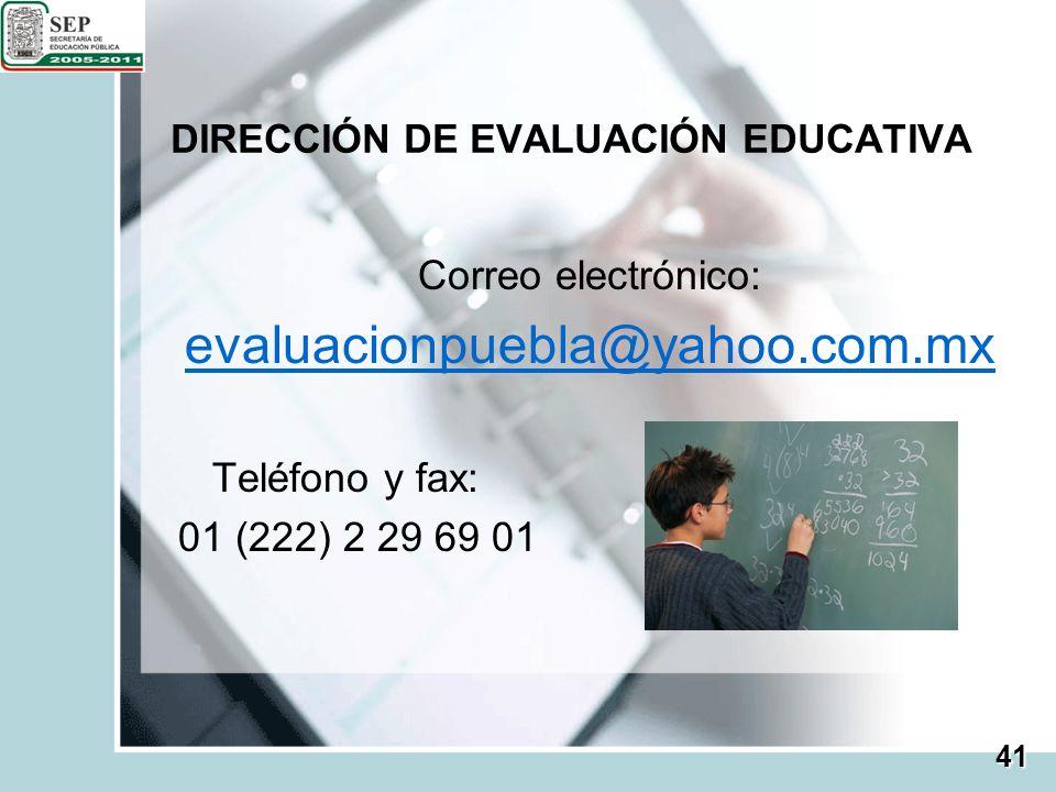 DIRECCIÓN DE EVALUACIÓN EDUCATIVA