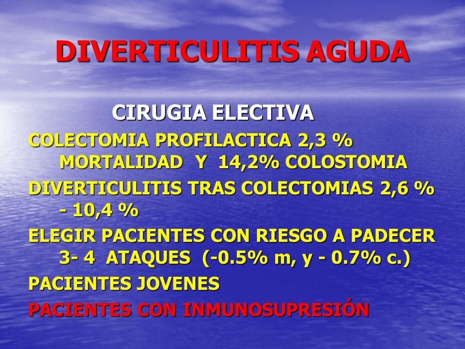 DIVERTICULITIS AGUDA CIRUGIA ELECTIVA
