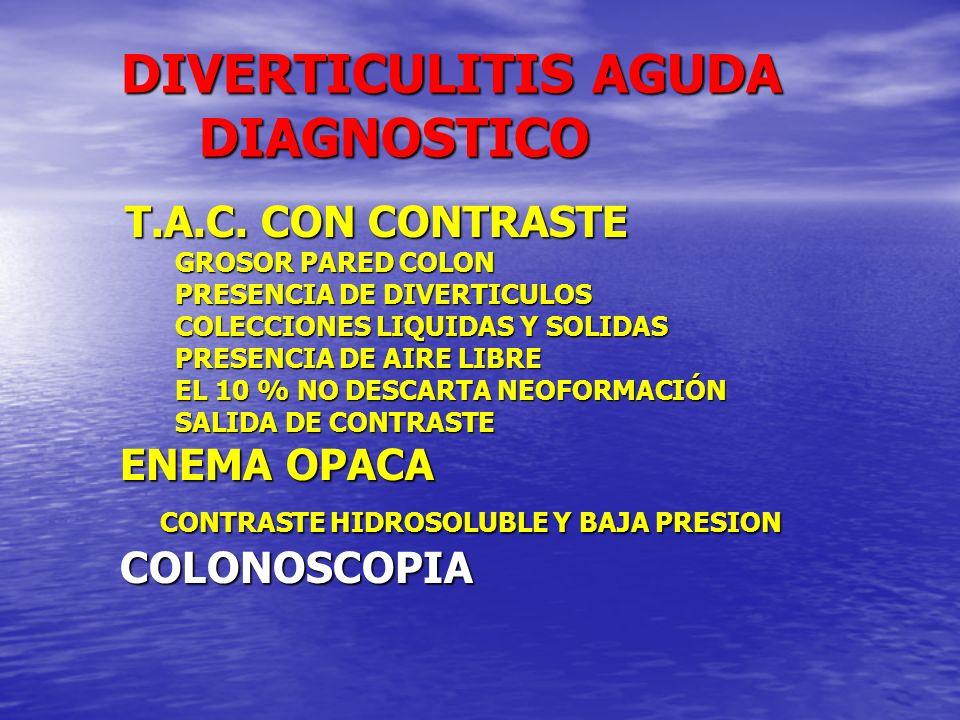 DIVERTICULITIS AGUDA DIAGNOSTICO