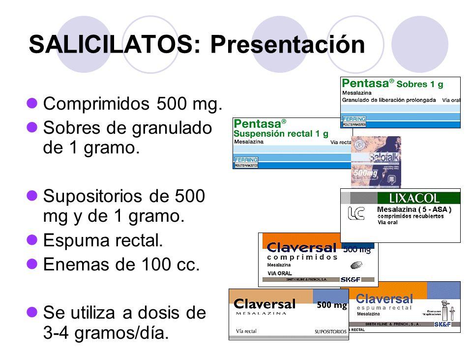 SALICILATOS: Presentación