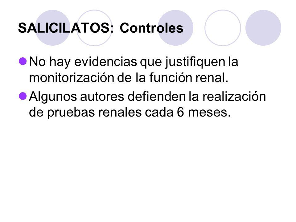 SALICILATOS: Controles