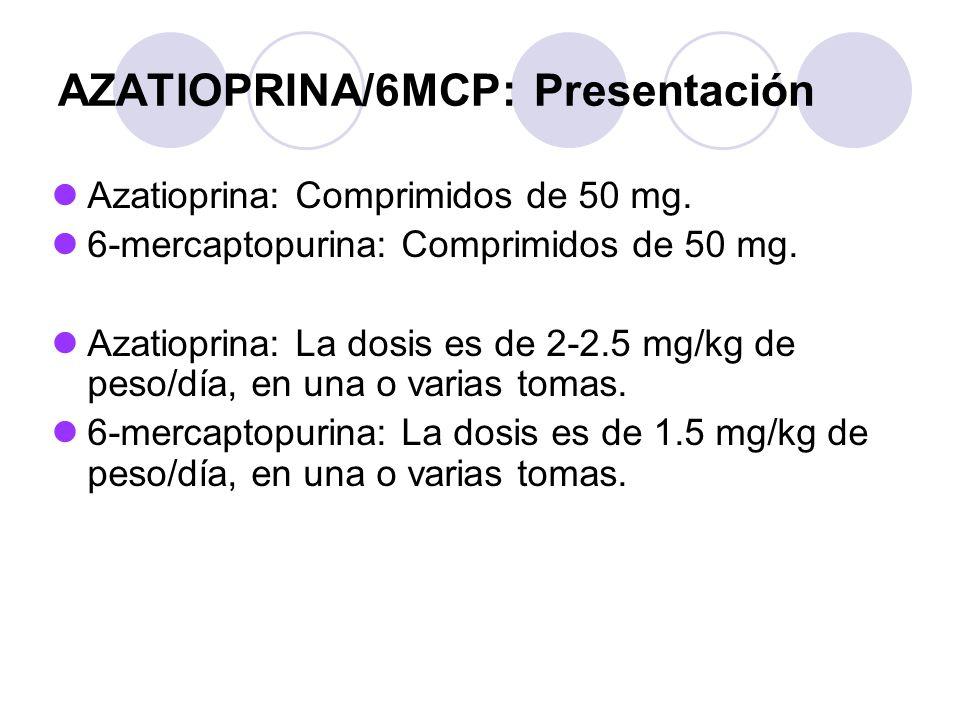 AZATIOPRINA/6MCP: Presentación