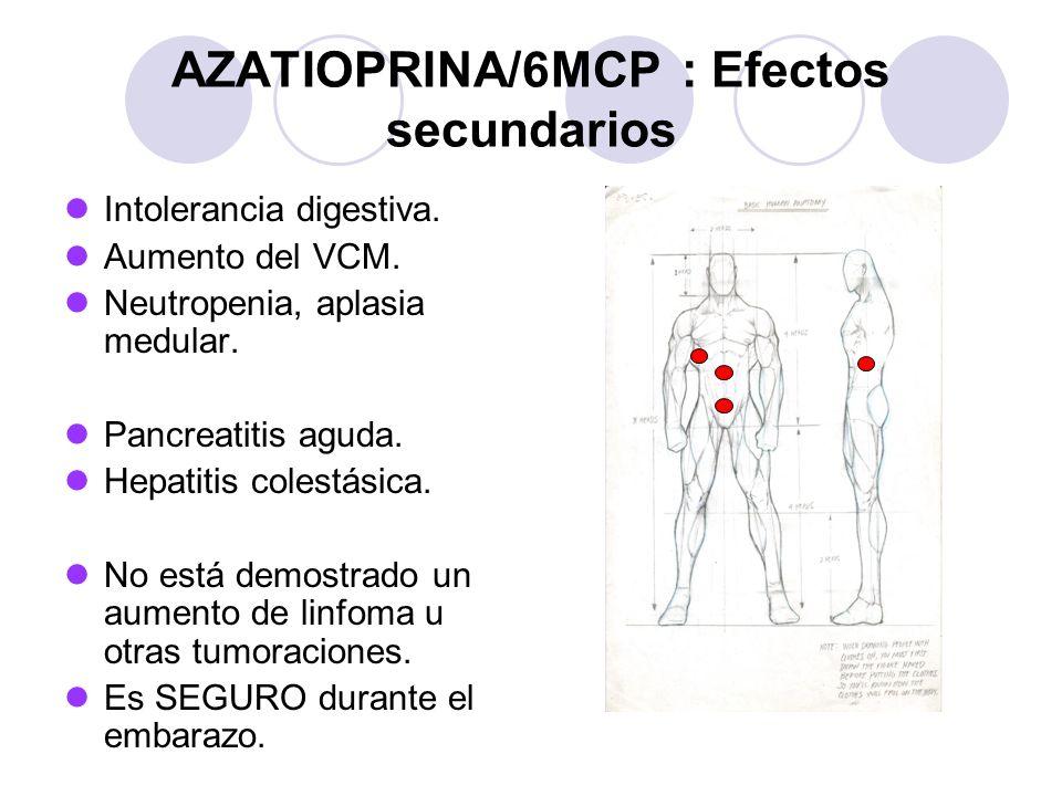 AZATIOPRINA/6MCP : Efectos secundarios