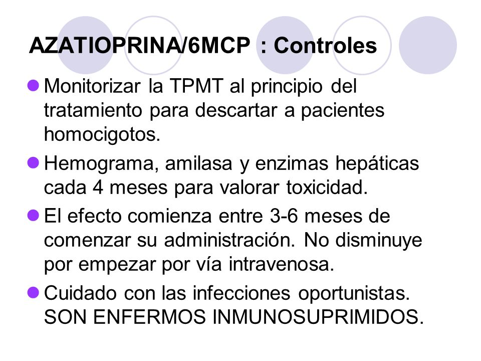 AZATIOPRINA/6MCP : Controles