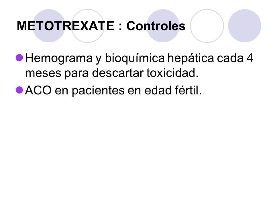 METOTREXATE : Controles