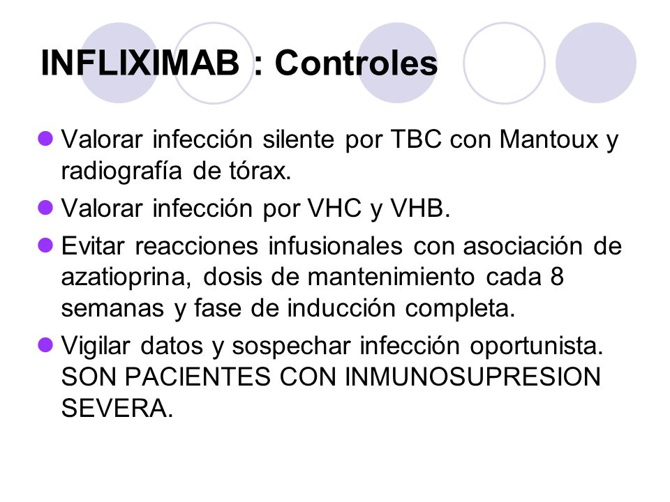 INFLIXIMAB : Controles