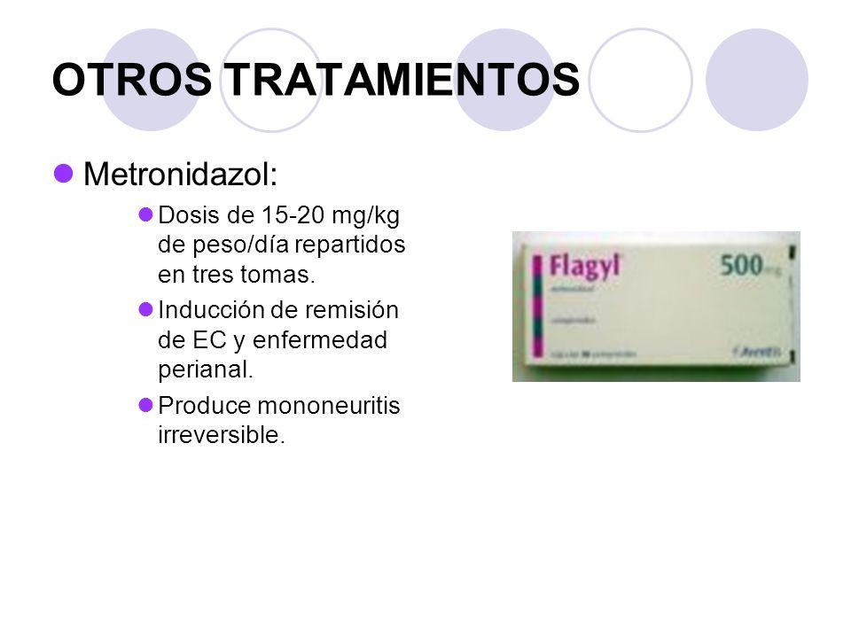 OTROS TRATAMIENTOS Metronidazol: