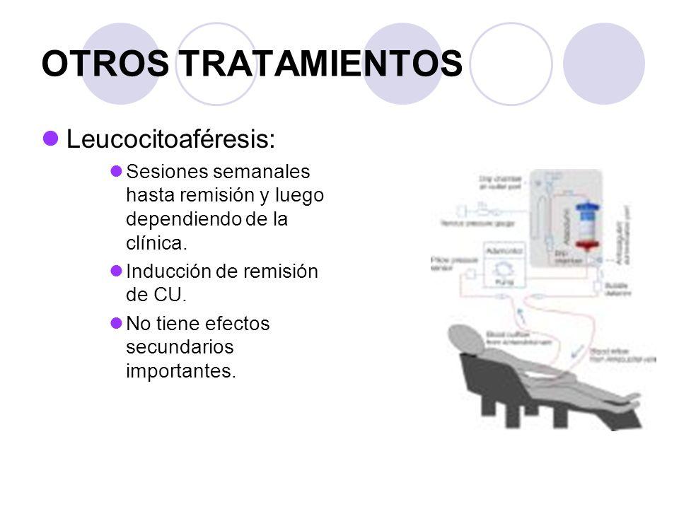 OTROS TRATAMIENTOS Leucocitoaféresis: