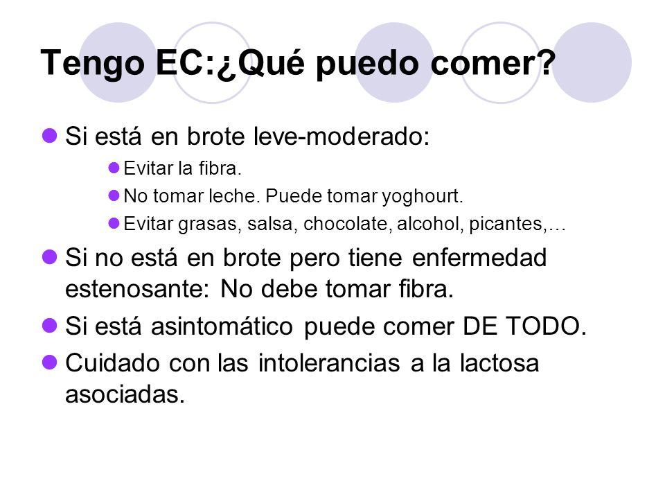 Tengo EC:¿Qué puedo comer