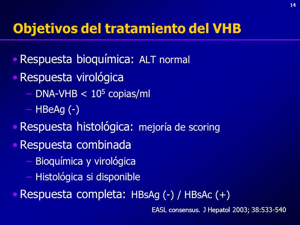 Objetivos del tratamiento del VHB