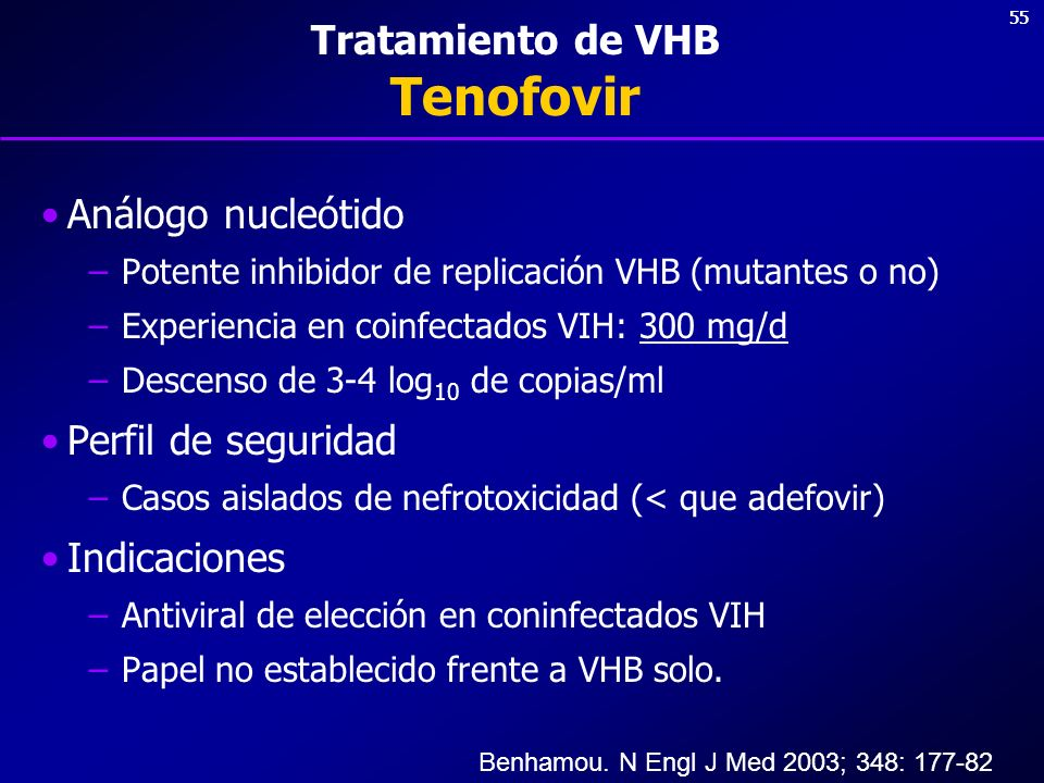 Tratamiento de VHB Tenofovir