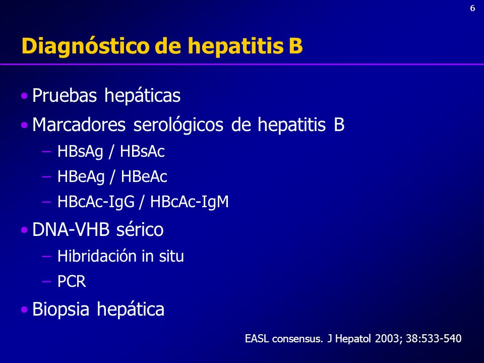 Diagnóstico de hepatitis B