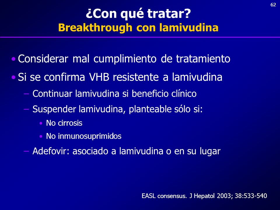¿Con qué tratar Breakthrough con lamivudina