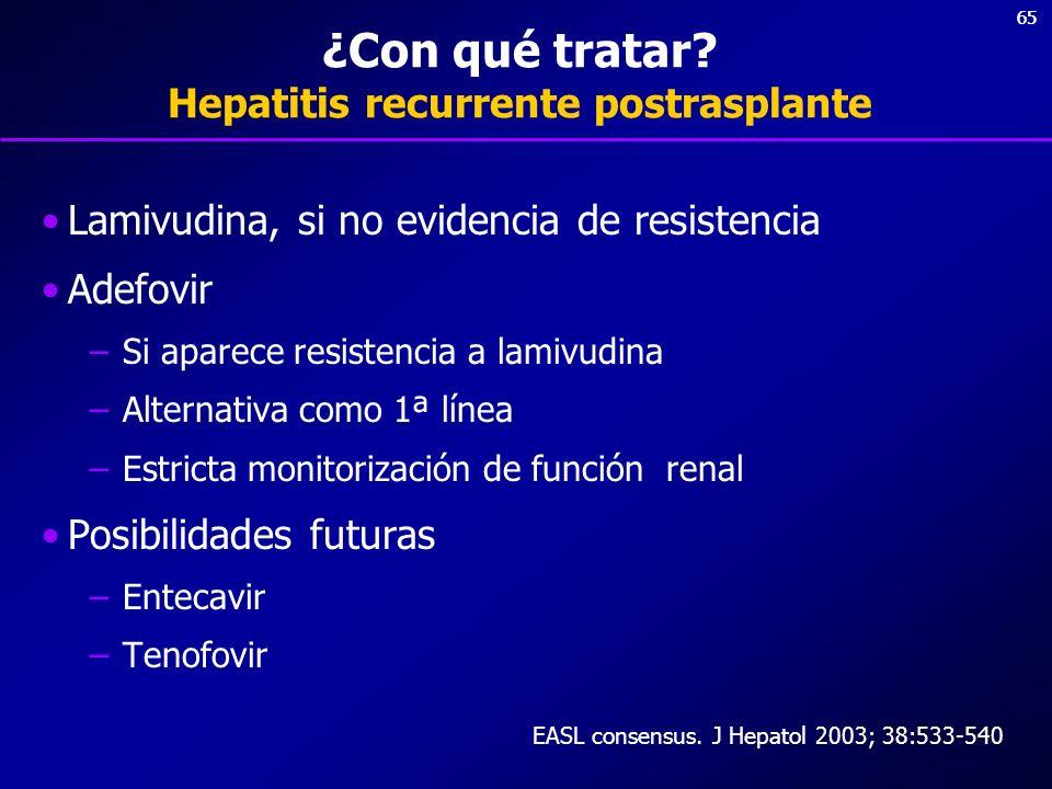 ¿Con qué tratar Hepatitis recurrente postrasplante