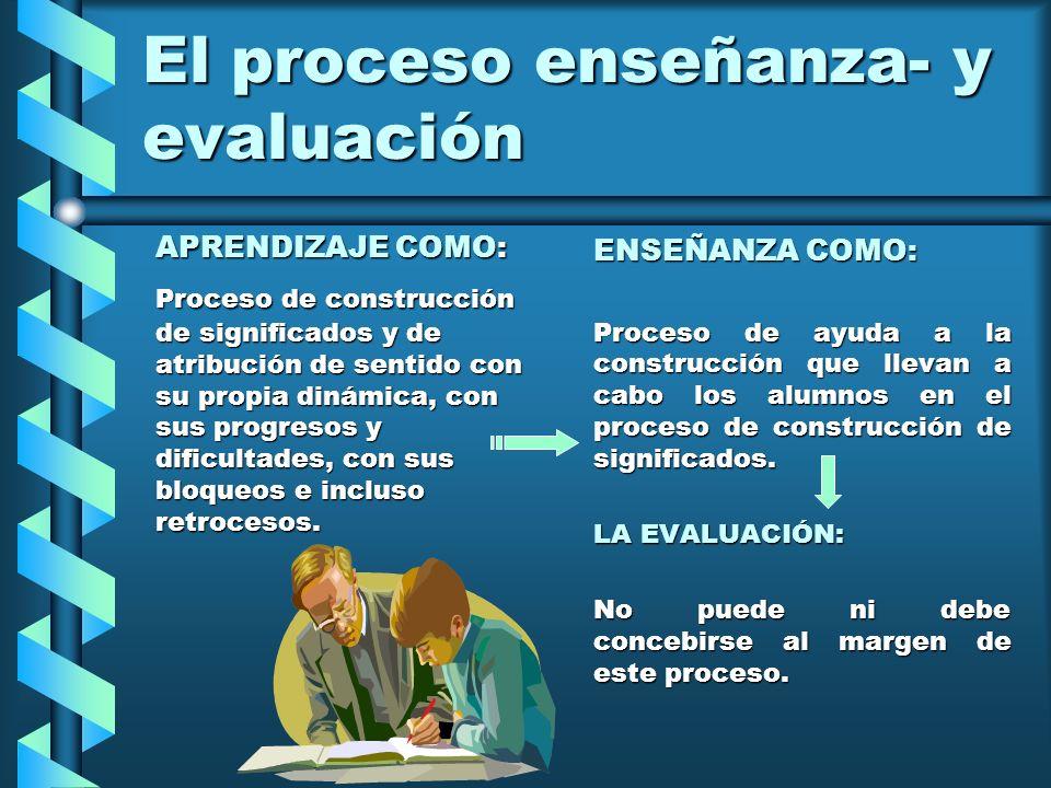 El proceso enseñanza- y evaluación