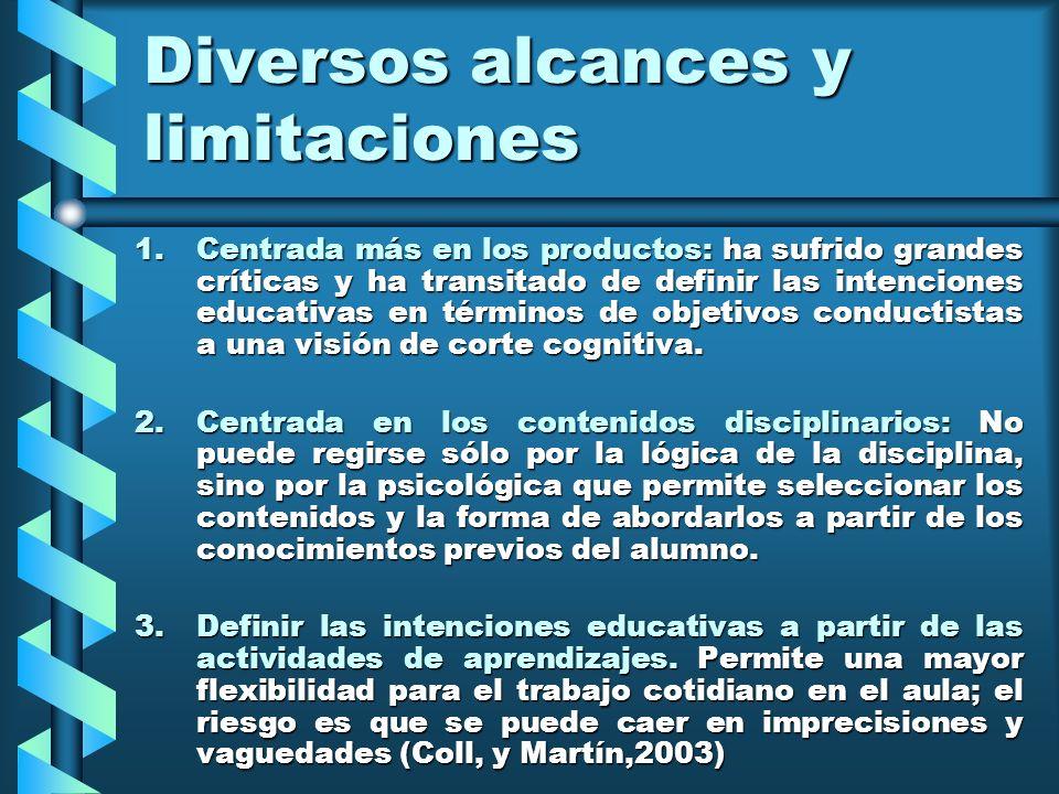 Diversos alcances y limitaciones