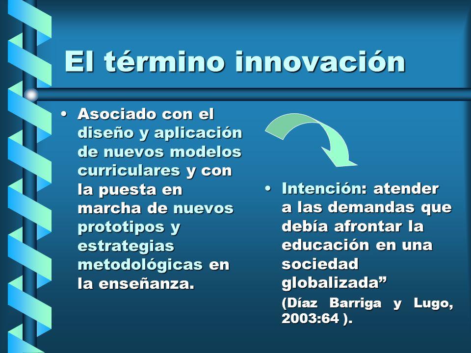 El término innovación