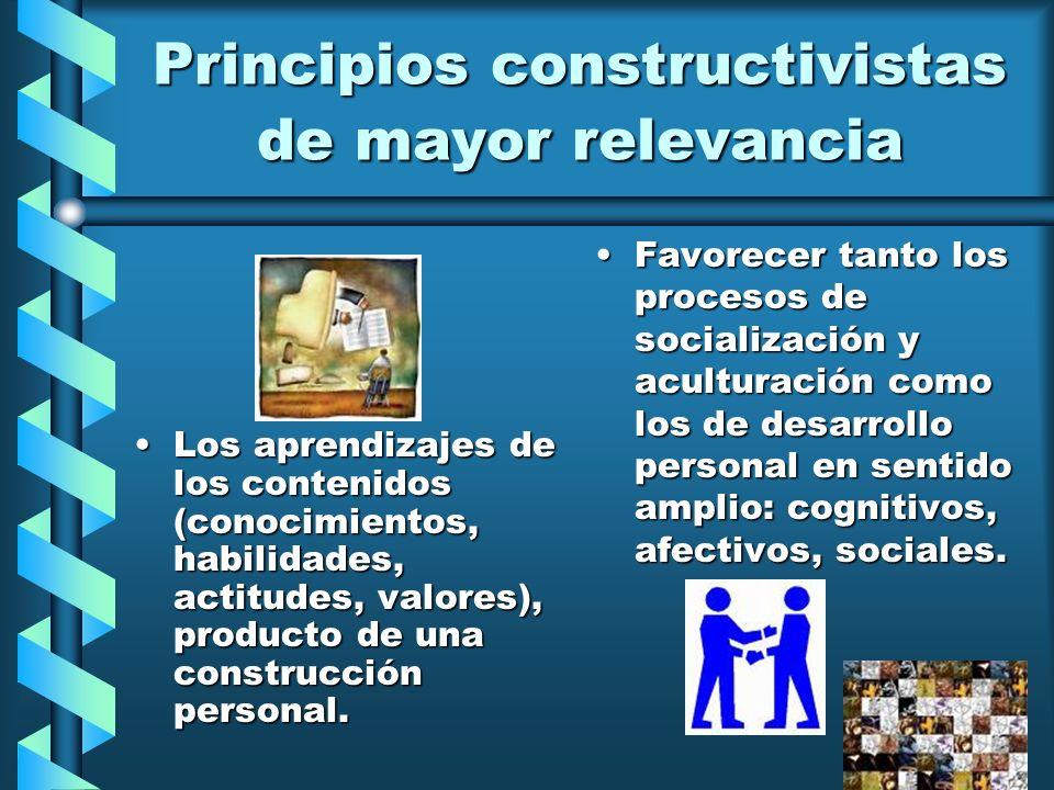 Principios constructivistas de mayor relevancia