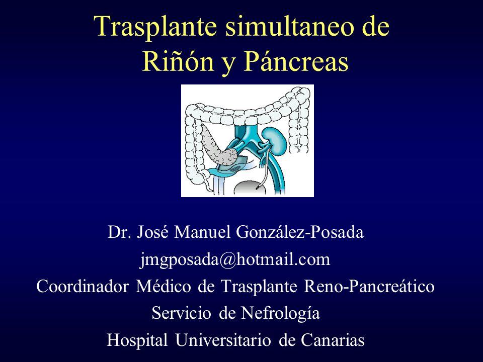 Trasplante simultaneo de Riñón y Páncreas
