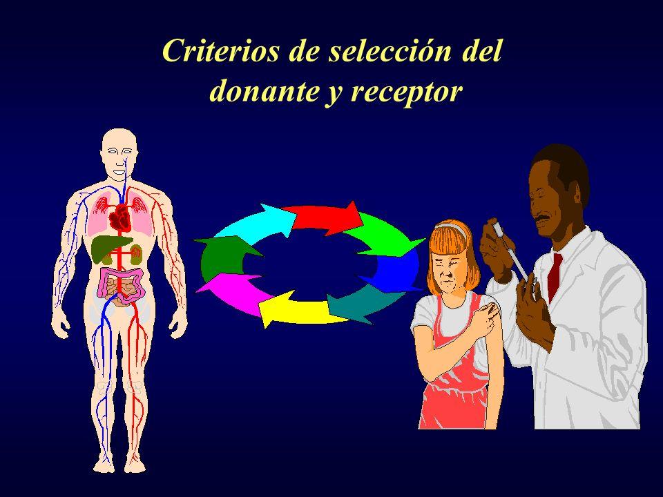 Criterios de selección del donante y receptor