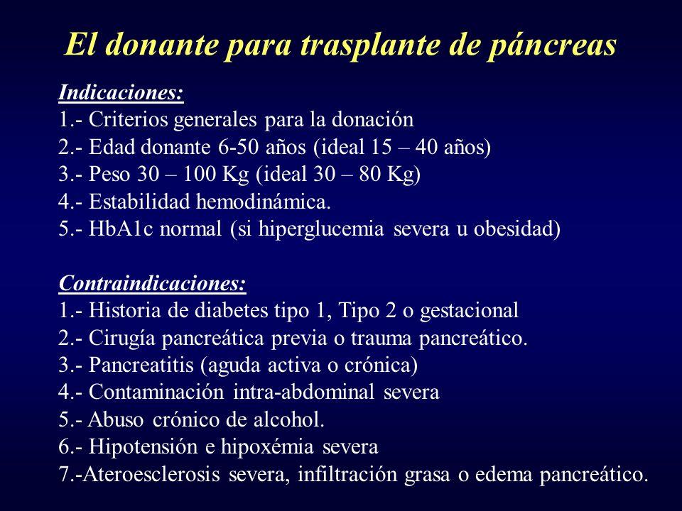 El donante para trasplante de páncreas