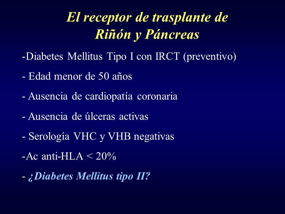 El receptor de trasplante de Riñón y Páncreas