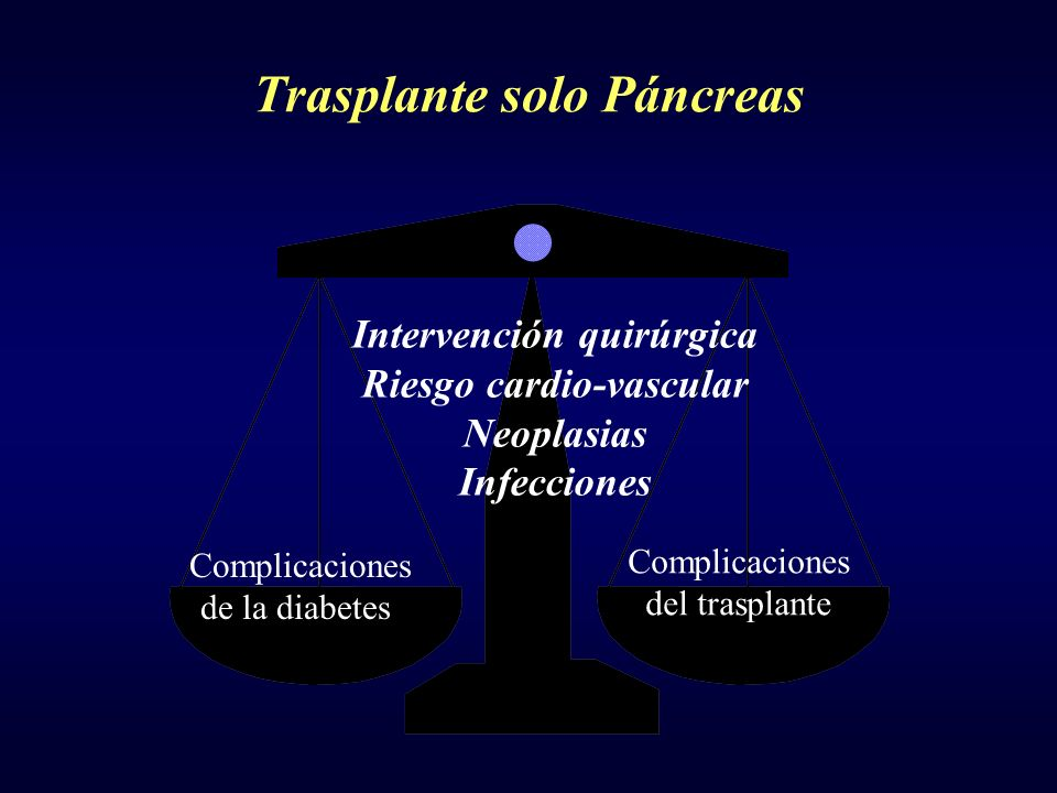 Trasplante solo Páncreas