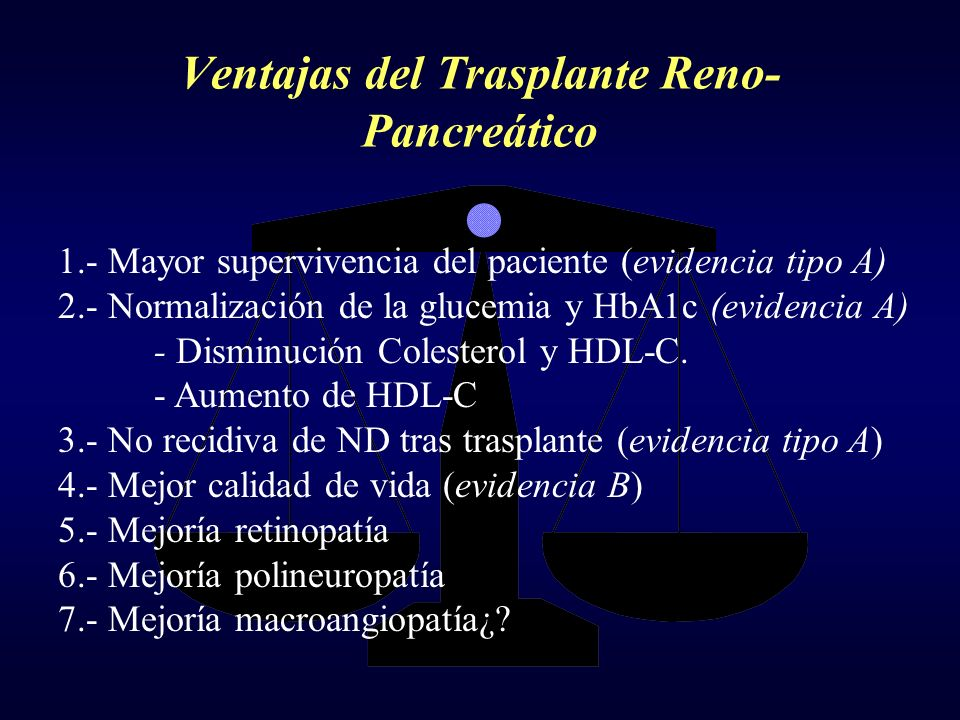 Ventajas del Trasplante Reno-Pancreático