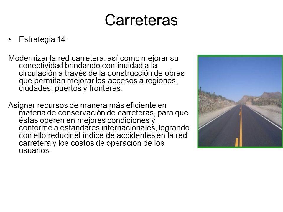 Carreteras Estrategia 14: