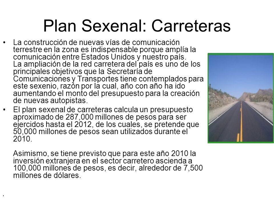 Plan Sexenal: Carreteras